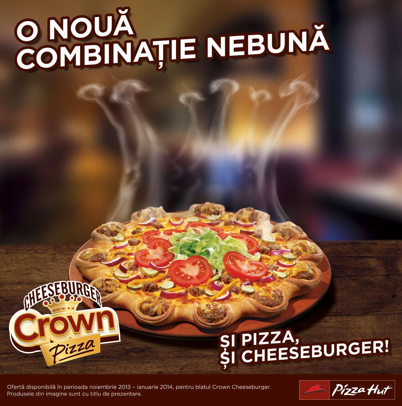 Crown Cheeseburger Pizza Hut