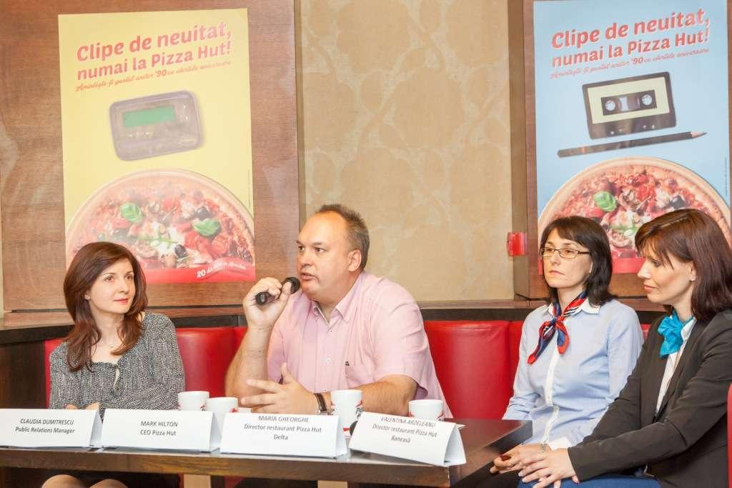 Pizza Hut aniverseaza 20 de ani de prezenta in Romania