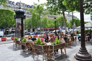 Cafe sur Champs Elysees a Paris