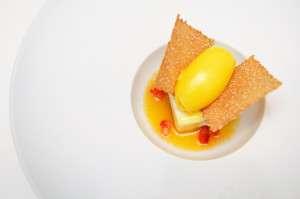 Desert cu dorbet de mandarine Andrea Canton