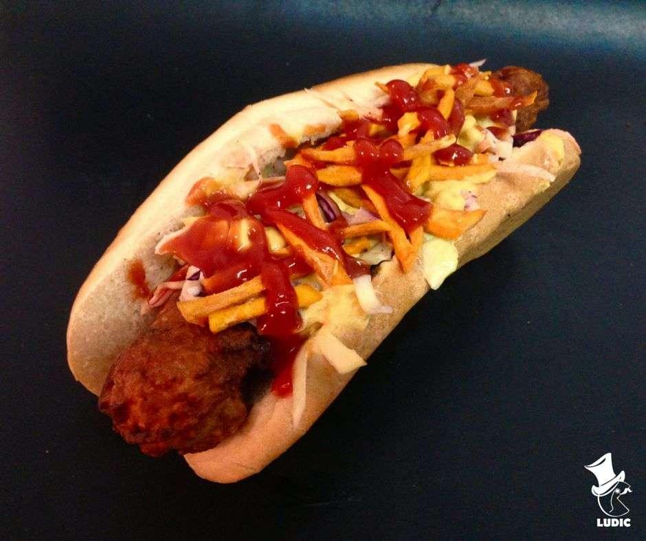 hot dog spicy corn dog