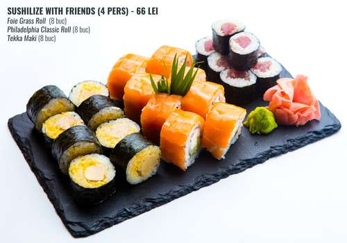 sushilize with friends